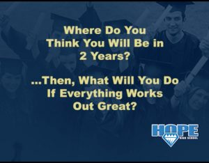 Where Do you Think You Will Be in 2 Years?